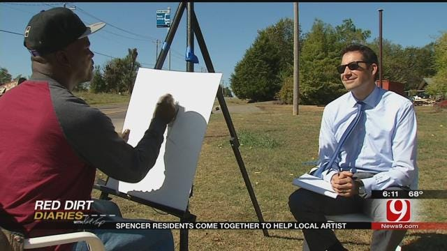 Red Dirt Diaries: Spencer Resident's Come Together To Help Local Artist