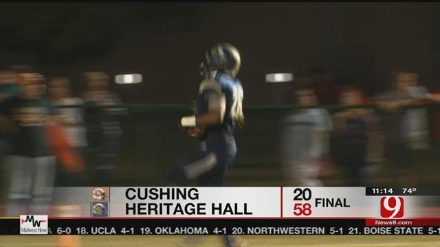 Heritage Hall Charges Past Cushing