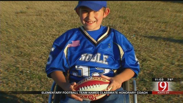 Noble Elementary Football Team Names Classmate Honorary Coach