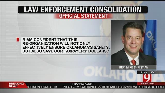 OK Lawmaker Pushing Plan To Consolidate Law Enforcement Agencies