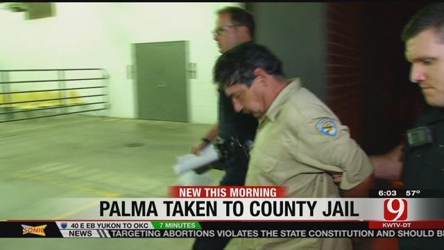 Authorities Escort Anthony Palma Inside OK County Jail