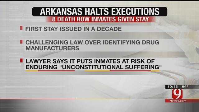 Arkansas Judge Halts 8 Executions In State