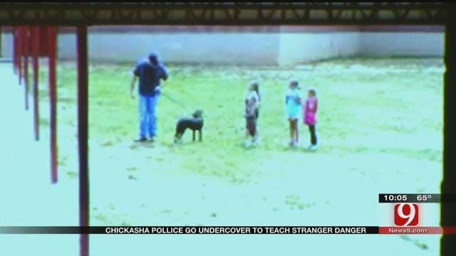 Chickasha Police Go Undercover To Teach 'Stranger Danger'