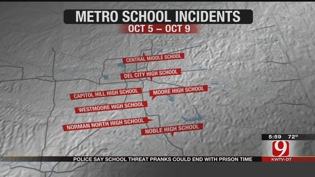 Metro Police Say School Threat Pranks Could End With Prison Time