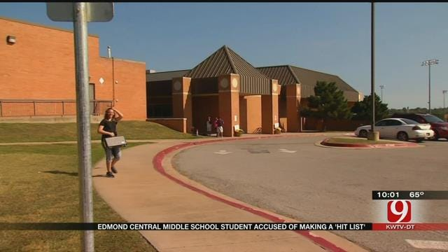 Edmond Central Middle School Student Accused Of Making 'Hit List'