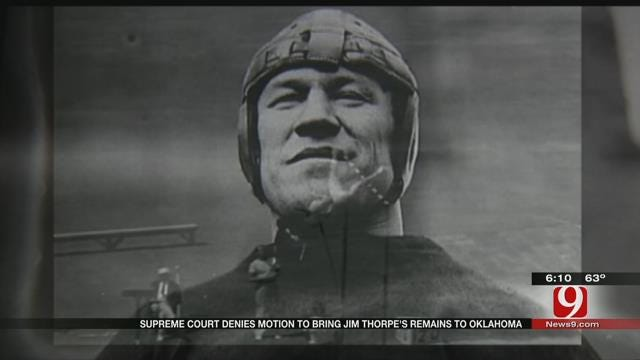 US Supreme Court Rejects Appeal To Move Jim Thorpe's Body Back To OK
