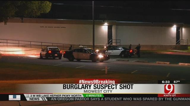 Burglary Suspect Shot By Officer At Rose State College