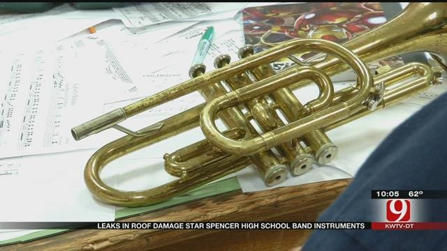 Roof Leaks Damage Star Spencer HS Band Instruments