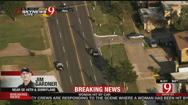 Woman Hospitalized After Being Struck By Car In SE OKC