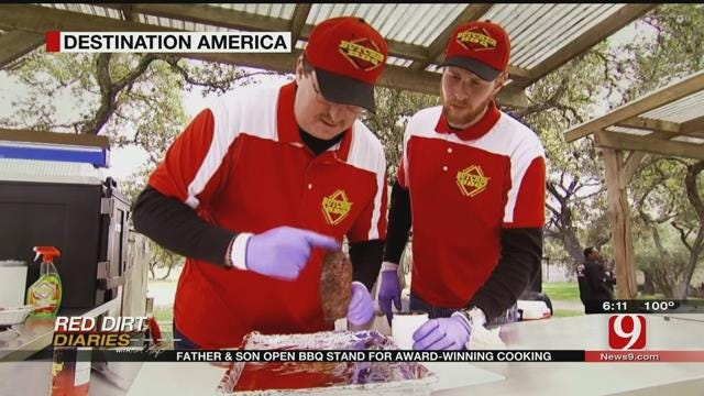 Red Dirt Diaries: Father And Son BBQ Stand, Award Winning Cooking