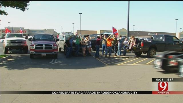 Group Rallies In OKC Metro In Support Of Confederate Flag