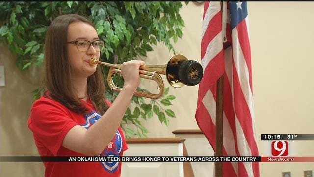 Giving Veterans A Final Salute Is An OKC Girl's Passion