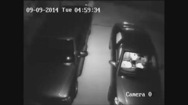 WEB EXTRA: OKC Police Seek Man Caught On Camera Burglarizing Car