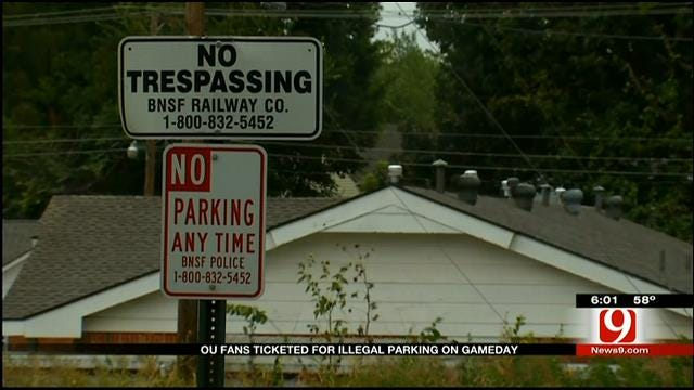 OU Fans Ticketed For Illegal Parking On Game Day