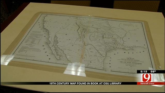 19th Century Map Found In Book At OSU Library