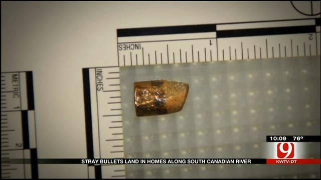 Stray Bullets Land In Homes Along South Canadian River