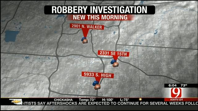 OKC Police Investigate String Of Robberies