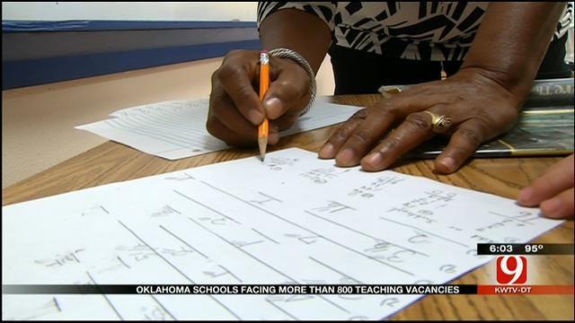 Oklahoma Schools Facing More Than 800 Teaching Vacancies