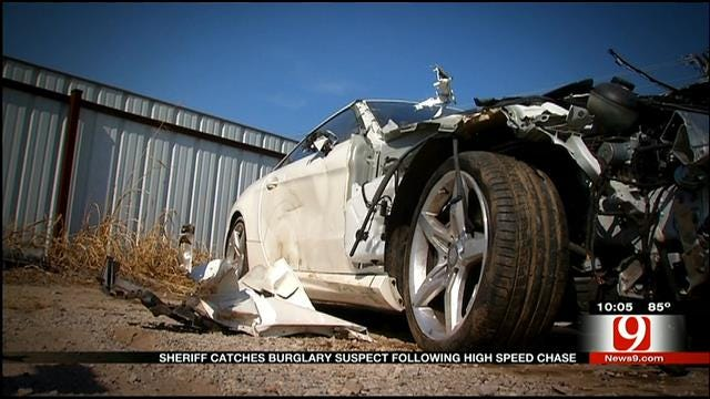 Grady County Sheriff Catches Burglary Suspect Following High-Speed Chase