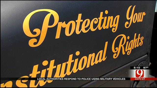 Local Authorities Respond To Police Using Military Vehicles