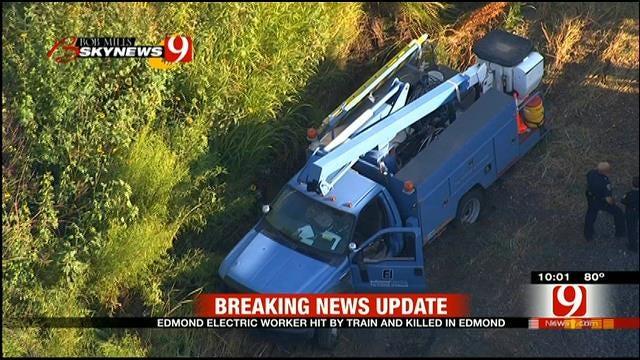 Electric Worker Hit By Train, Killed In Edmond