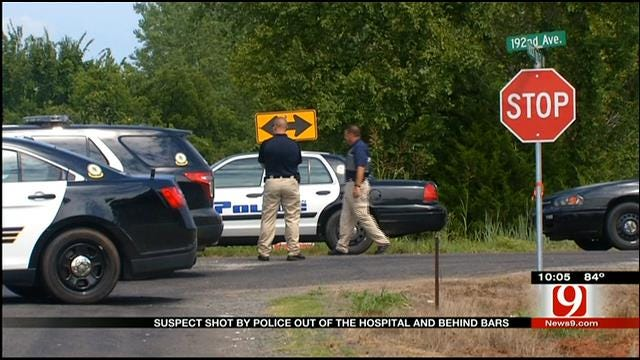 Suspect Shot By Norman Police Now Behind Bars