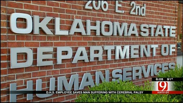 DHS Worker Saves Man Suffering From Cerebral Palsy