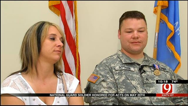 National Guard Soldier Honored For May 20 Heroics