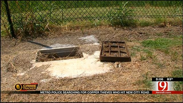 Copper Thieves Target New Stretch Of Road In OKC
