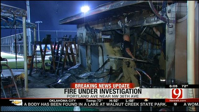 Fire Causes Significant Damage To OKC Tennis Center