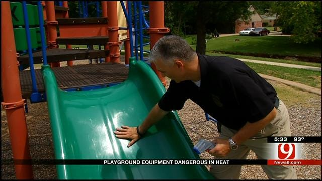 EMSA Monitors Heat At OKC Playground