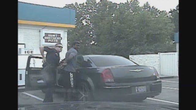 WEB EXTRA: Video Of Blackmon Arrest From Edmond Police Dash Cam