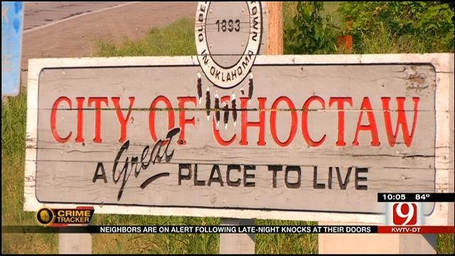 Neighbors In Choctaw On Alert After Eerie Late Night Knocks At The Door