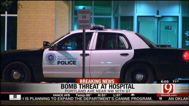 'All-Clear' Given Following OKC Hospital Bomb Threat