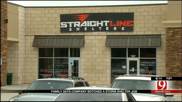 Mustang Family Says Company Botched Storm Shelter Job