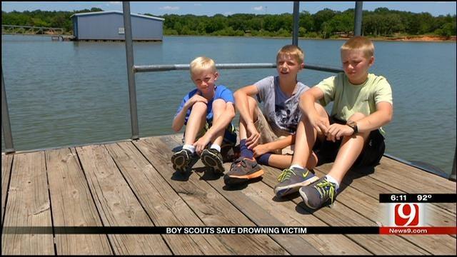Three Boy Scouts Save Drowning Victim At Lake Arcadia