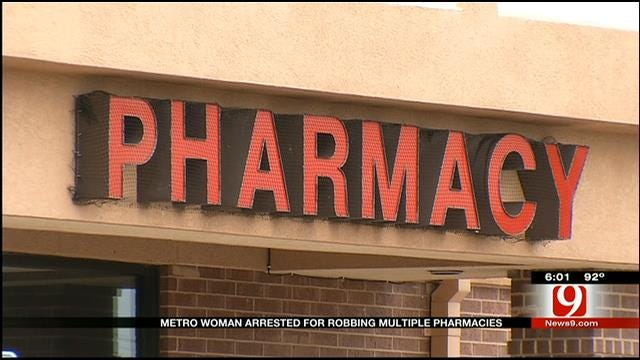Metro Woman Arrested For Robbing Multiple Pharmacies