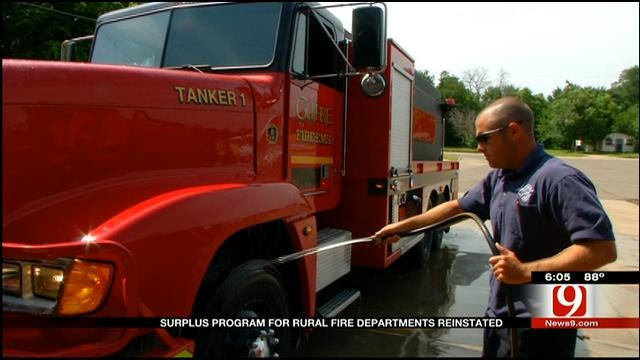 Surplus Program For Rural Fire Departments Reinstated