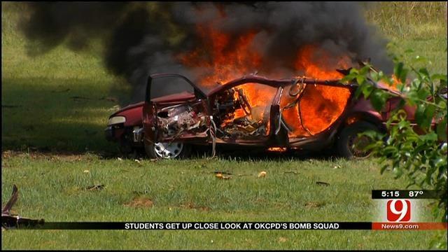 OKC Student Police Academy Learns About Bomb Detonation