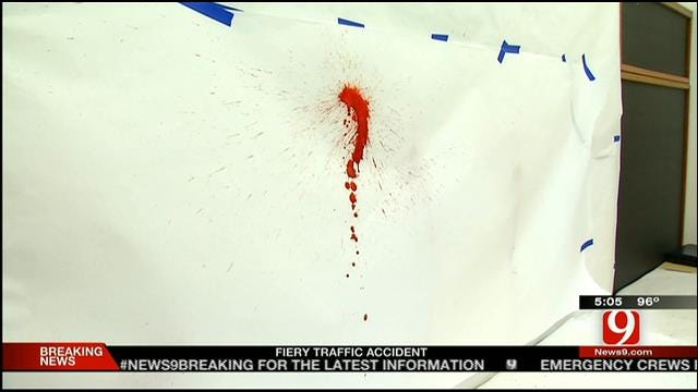 Blood Spatter Training Teaches OSBI Science Behind Crime Scenes