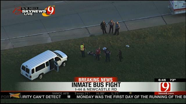 Several Injured During Fight On Federal Inmate Bus