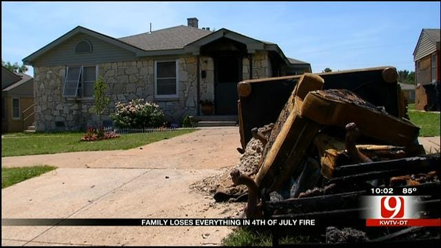 Metro Family Loses Everything In Fourth Of July House Fire