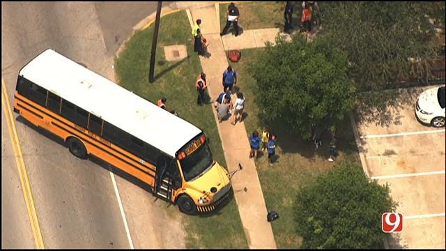 WEB EXTRA: SkyNews9 Flies Over School Bus Crash In Norman