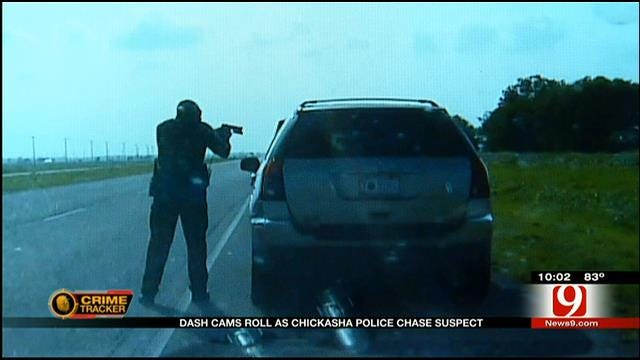 Caught On Camera: Chickasha Police Chase Suspect