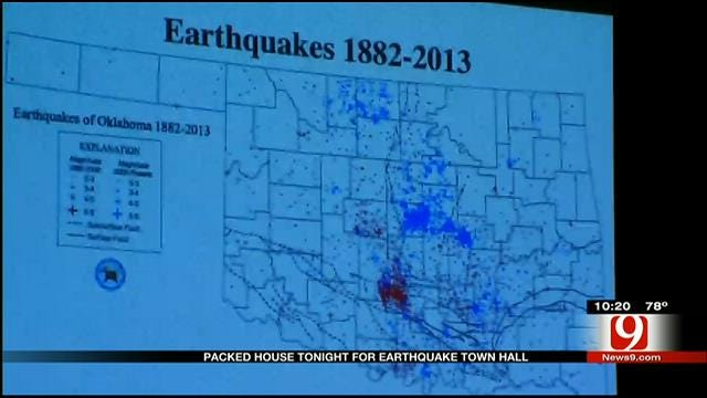 Oil, Gas Industry Hosts Earthquake Town Hall In Edmond