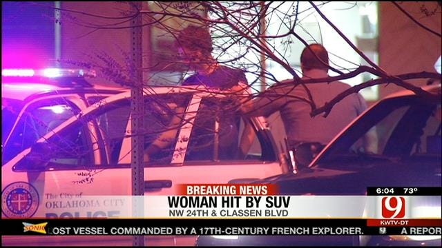 Woman Seriously Injured After Being Hit By SUV In NW OKC