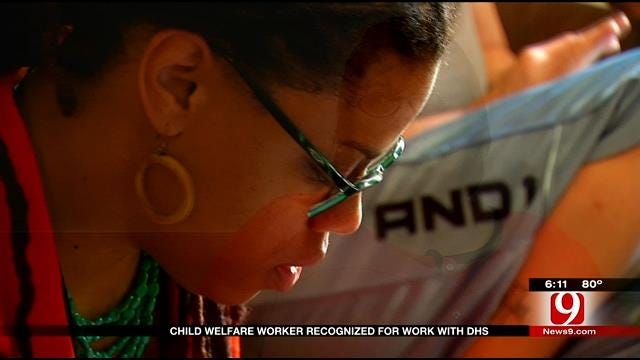 Child Welfare Worker Recognized For Work With DHS