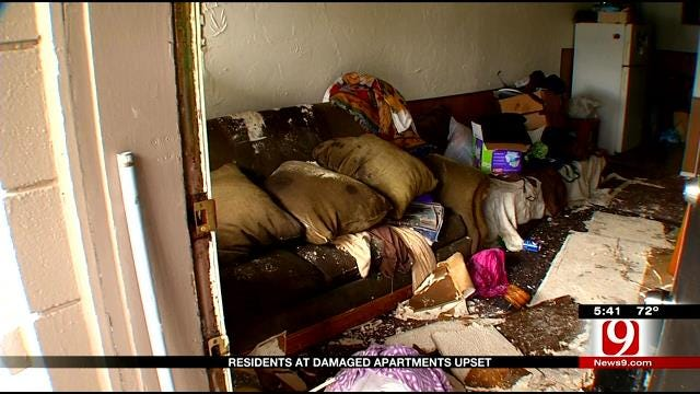 Residents At Damaged NW OKC Apartment Upset After Roof Collapse
