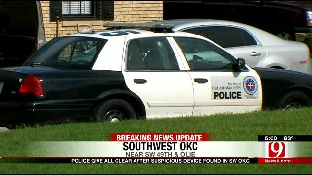Authorities Give All-Clear After Suspicious Device Found In SW OKC