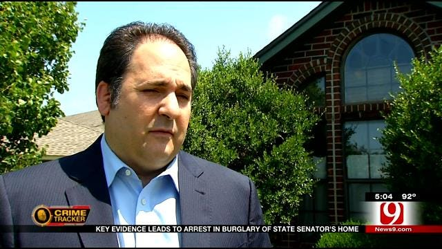 Key Evidence Leads To Arrest In Burglary Of State Senator's Home